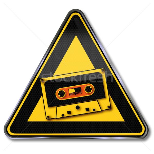 Segno musica nastro cassette party esercizio Foto d'archivio © Ustofre9