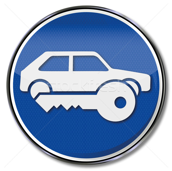 Signe sécurisé parking voiture sécurité Photo stock © Ustofre9