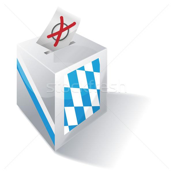 Oylama kutu çapraz mavi bayrak Avrupa Stok fotoğraf © Ustofre9