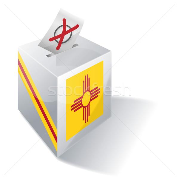 голосование окна Нью-Мексико солнце карта флаг Сток-фото © Ustofre9