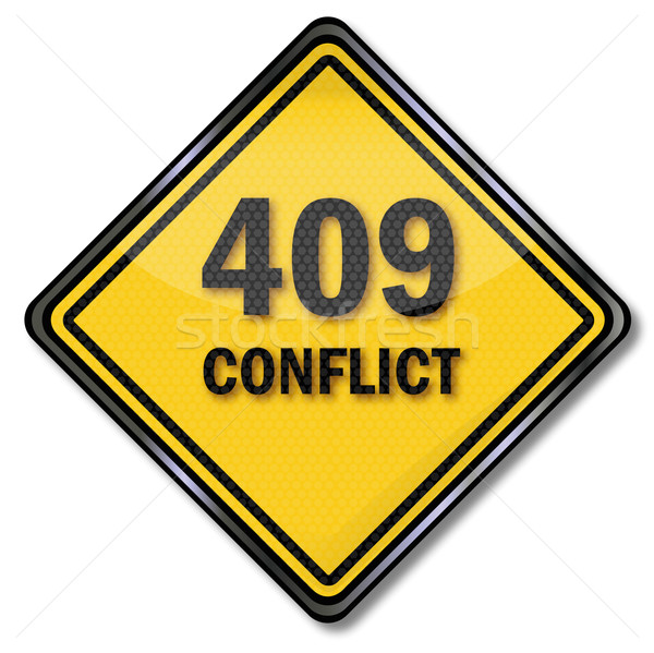 Computer sign 409 conflict Stock photo © Ustofre9