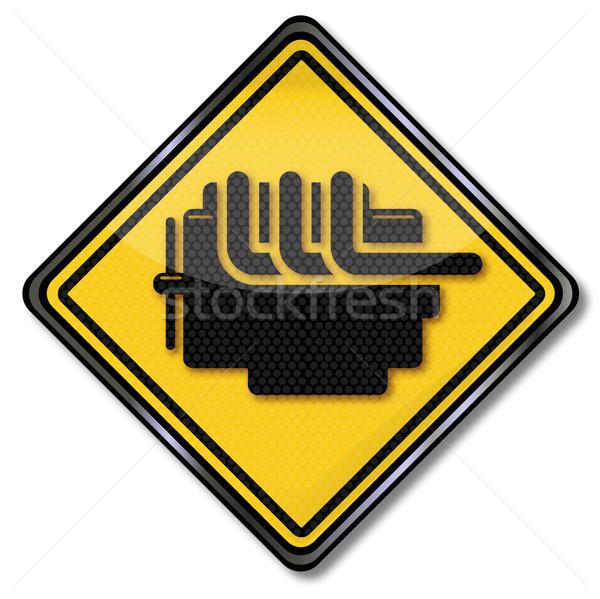 Teken motor schade ontwerp licht kunst Stockfoto © Ustofre9