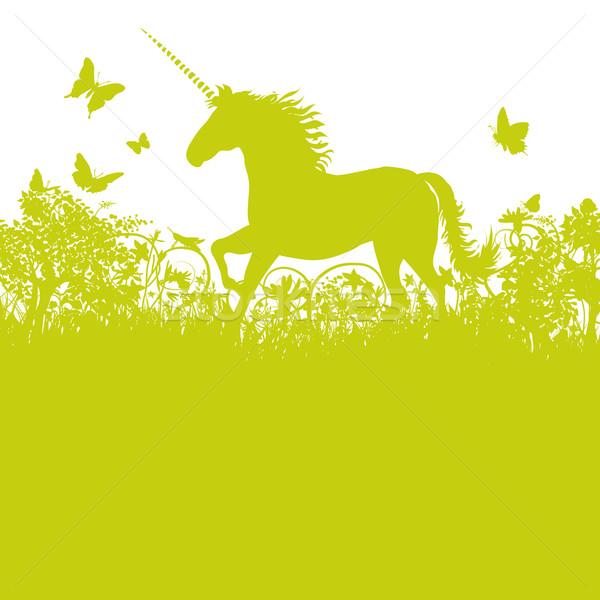 Unicorn in the pasture  Stock photo © Ustofre9
