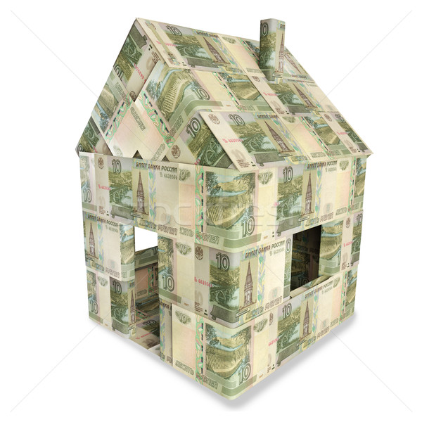 House made of 10 rubles bills Stock photo © Ustofre9
