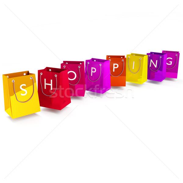 ショッピングバッグ ショッピング 袋 広告 注記 パッケージ ストックフォト © Ustofre9