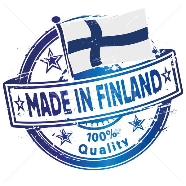 Finlândia mão educação bandeira compras Foto stock © Ustofre9
