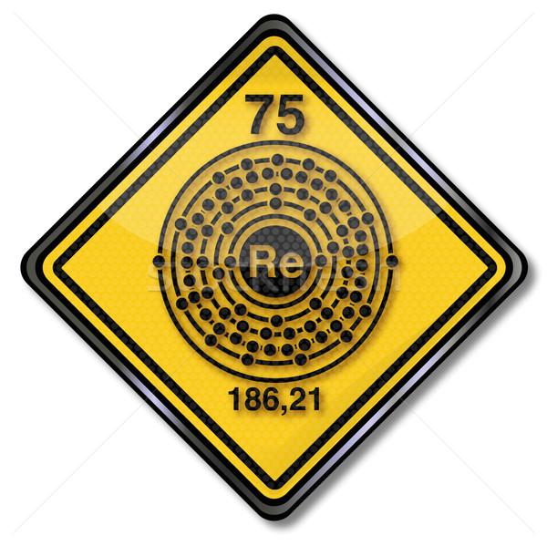 Química escudo assinar lei químico botão Foto stock © Ustofre9