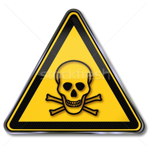 Stok fotoğraf: Tehlike · işareti · uyarı · toksik · yangın · sağlık · ölüm