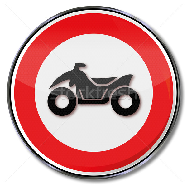 Traffic sign forbidden for quads Stock photo © Ustofre9
