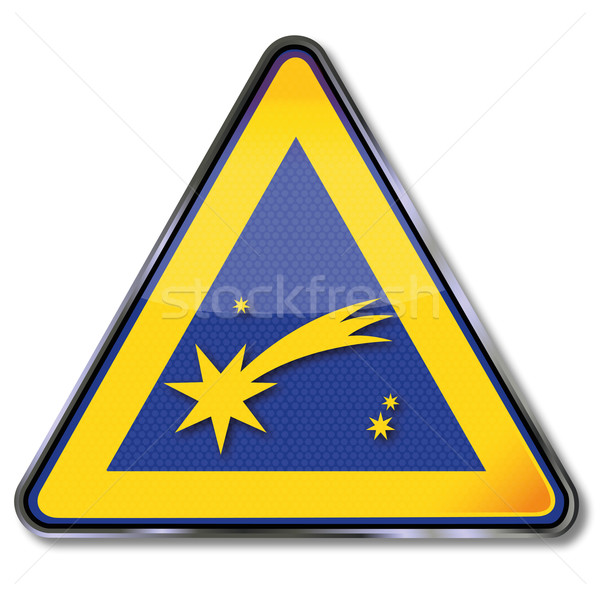 Sign comet in the night sky Stock photo © Ustofre9
