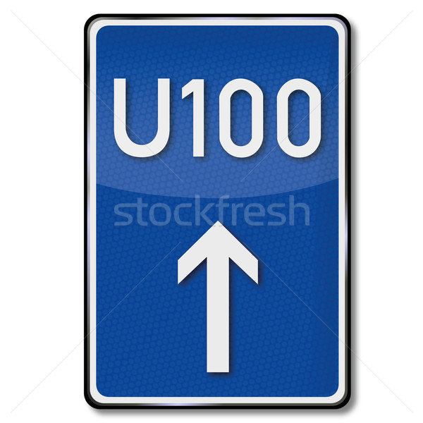 Traffic sign rerouting and detour Stock photo © Ustofre9