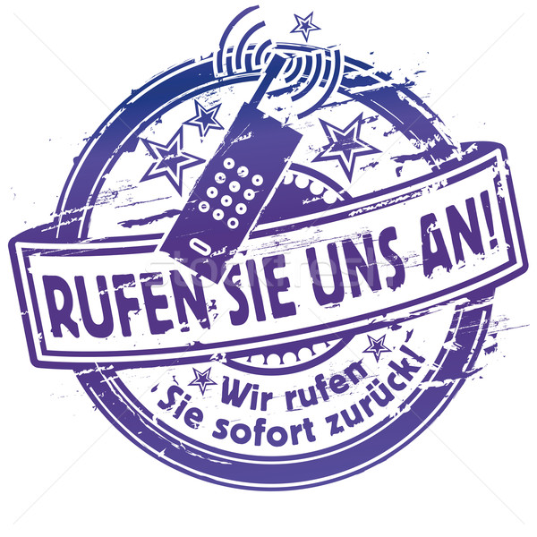 Rubber stamp call us Stock photo © Ustofre9