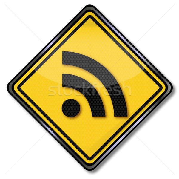 Sign really simple syndication feed rss  Stock photo © Ustofre9