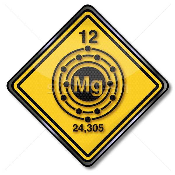 Teken chemie karakter magnesium bouw borden Stockfoto © Ustofre9