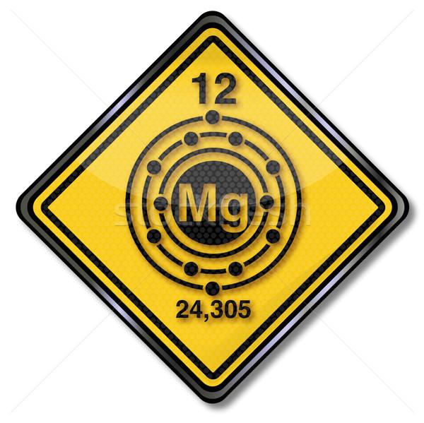 Signe chimie personnage magnésium construction signes Photo stock © Ustofre9