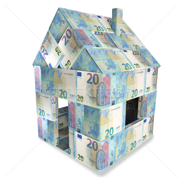 House of 20 euro bills and a new home Stock photo © Ustofre9
