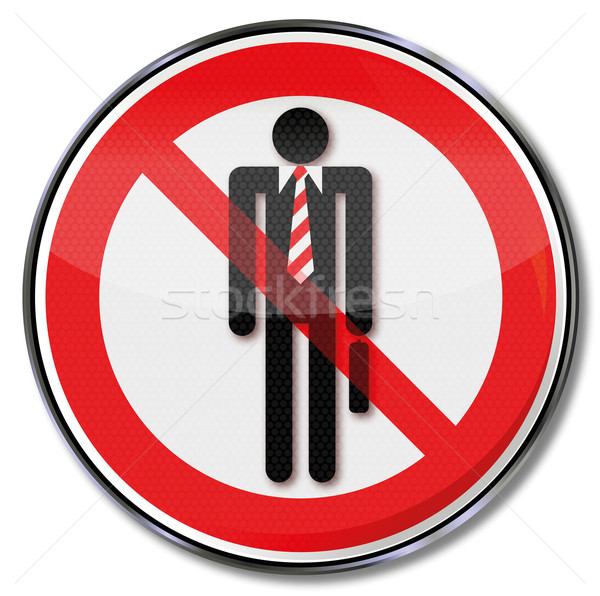 Prohibition sign for suits  Stock photo © Ustofre9