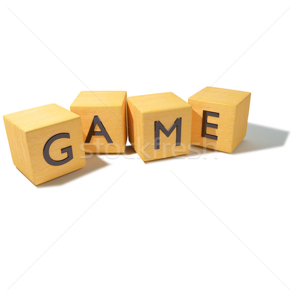 Wood dice and game  Stock photo © Ustofre9