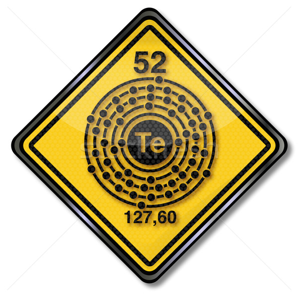 Sign chemistry character tellurium Stock photo © Ustofre9