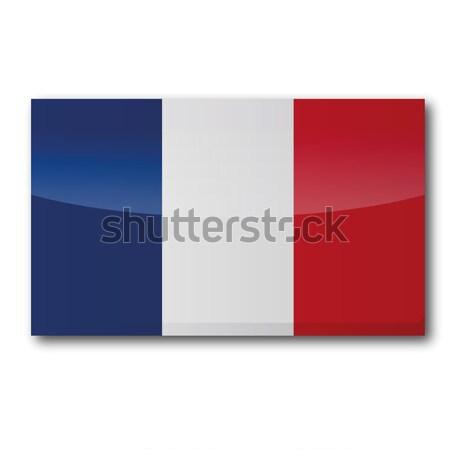флаг Франция карта евро Европа стране Сток-фото © Ustofre9