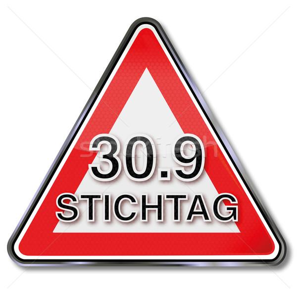 Plaque date limite droit signes bouton étiquette Photo stock © Ustofre9