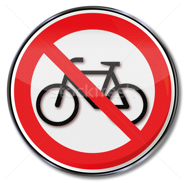 Stock photo: Prohibition sign no bicycle parking