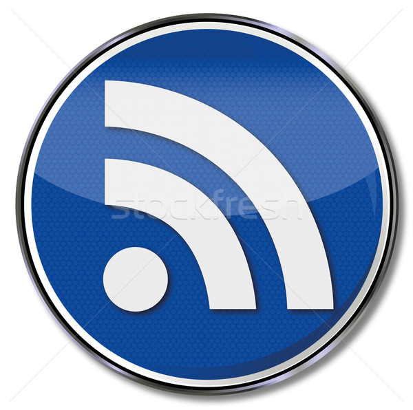 Sign RSS, really simple syndication feed Stock photo © Ustofre9