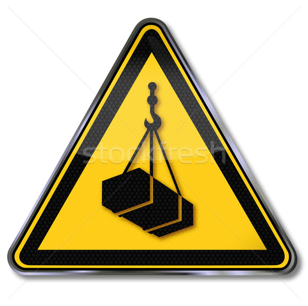 Warning sign warning of suspended load  Stock photo © Ustofre9
