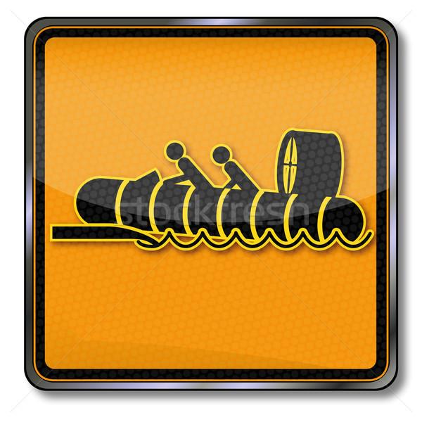 Teken hovercraft zee borden lucht militaire Stockfoto © Ustofre9