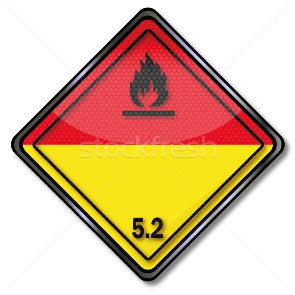Tehlike işareti tehlikeli sınıf boya sağlık Stok fotoğraf © Ustofre9