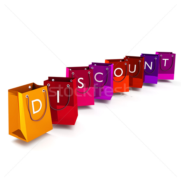 Shopping bags and discount Stock photo © Ustofre9