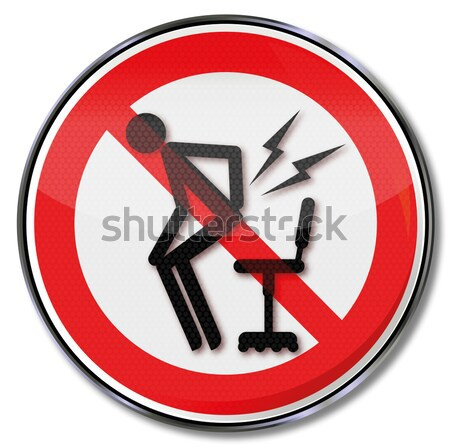 Prohibition sign for a barbecue and grilling Stock photo © Ustofre9