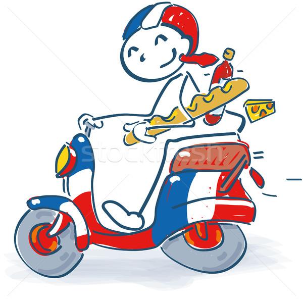 Stick figure sklep sukces motocykla wakacje Zdjęcia stock © Ustofre9