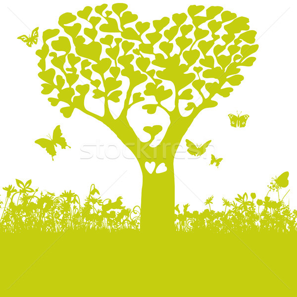 Tree with leaves of hearts and love Stock photo © Ustofre9