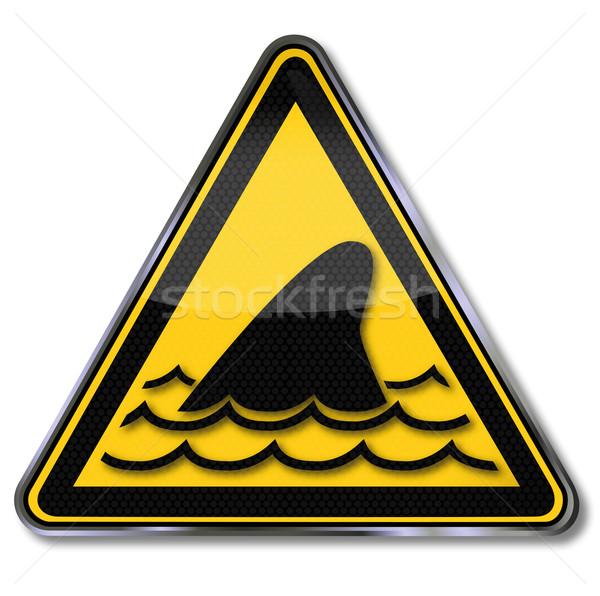 Foto stock: Barbatana · água · natureza · mar