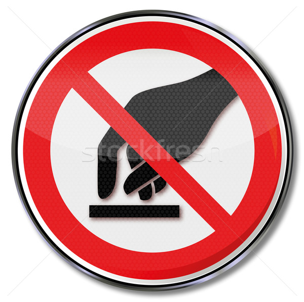 Prohibition sign forbidden to touch Stock photo © Ustofre9