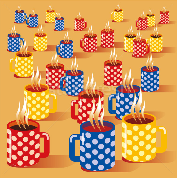 Many small cups and coffee break Stock photo © Ustofre9