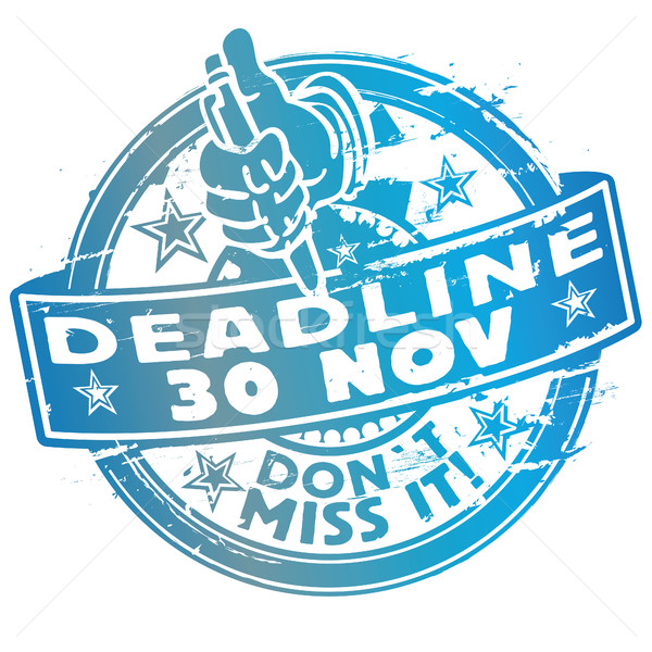 Rubber stamp date 30th november Stock photo © Ustofre9