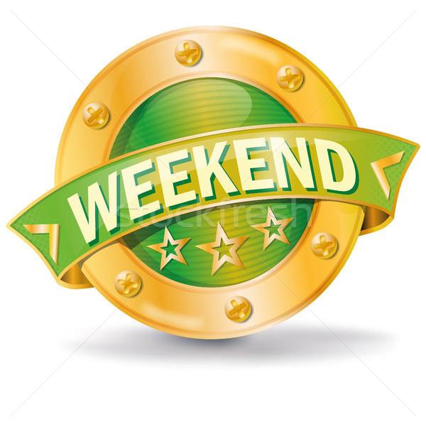 Przycisk weekend spotkanie kalendarza wakacje wakacje Zdjęcia stock © Ustofre9