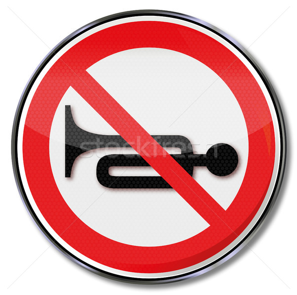 Sign no trumpet, horn or noise Stock photo © Ustofre9