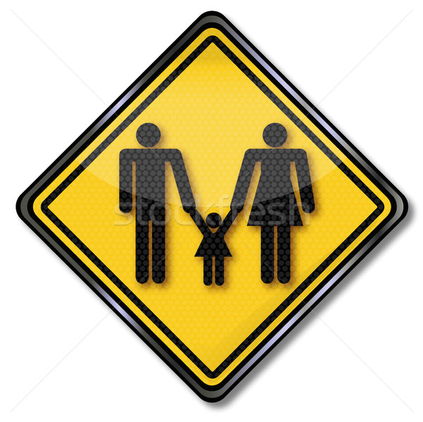 Sign nuclear family Stock photo © Ustofre9