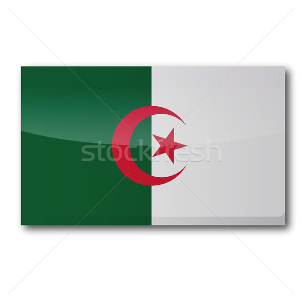 Bandeira Argélia estrela África país mapas Foto stock © Ustofre9