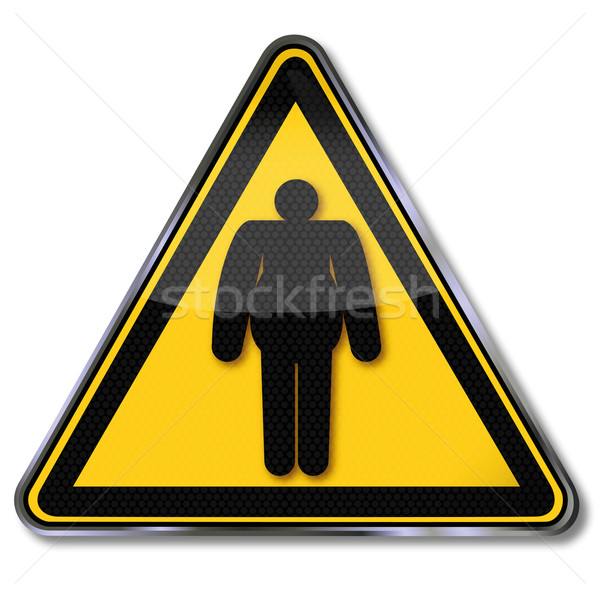 Danger shield weight gain and obesity Stock photo © Ustofre9