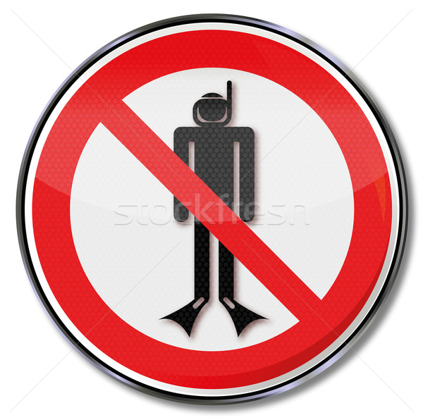 Prohibition sign with diving ban Stock photo © Ustofre9