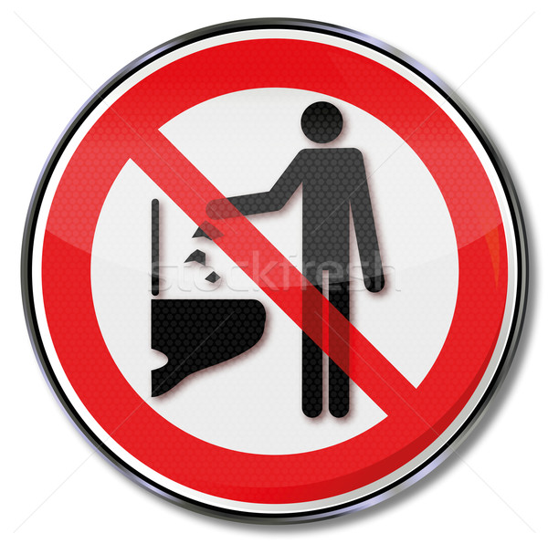 Prohibition sign please do not throw any objects down into the toilet  Stock photo © Ustofre9