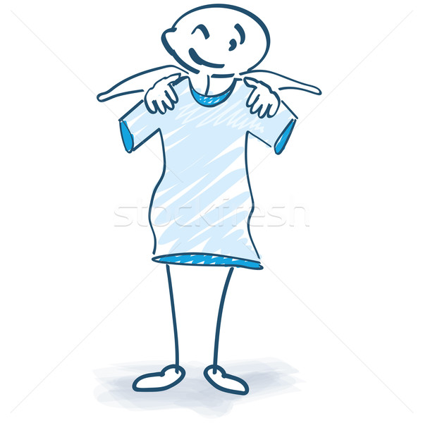 Stick figure with T-Shirt Stock photo © Ustofre9