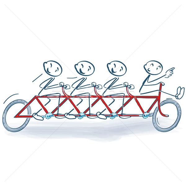 Vara ciclismo grupo quadro serviço roda Foto stock © Ustofre9
