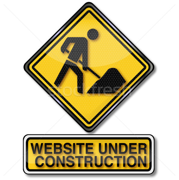 Construction site and website is under construction Stock photo © Ustofre9