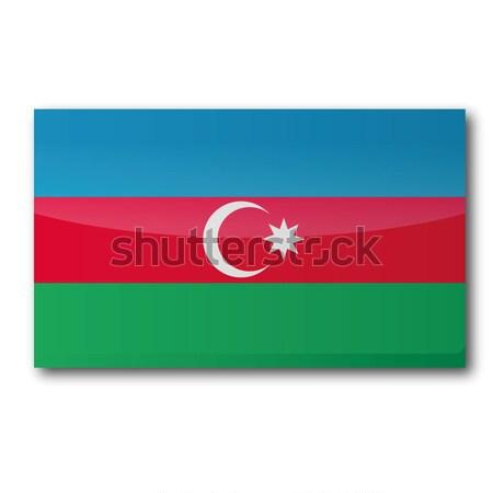 Stock photo: Flag Azerbaijan