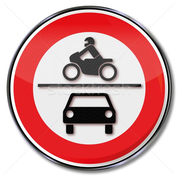 Sinaleiro motocicletas carros carro Foto stock © Ustofre9